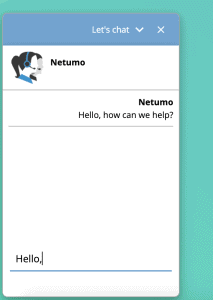 Netumo Support Live Chat
